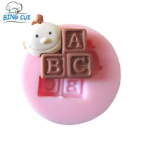 abc soaps - ABC Letter Shape Baby Silicone Cake Molds Fandont Soap Mould Chocolate Stencil Ice Tray Cake Tools Q006
