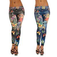 women leggings - Hot sales Fashion Women Girls Skinny Leggings Pencil Pants Polyester Spandex Printed Stretchy Sexy KX54