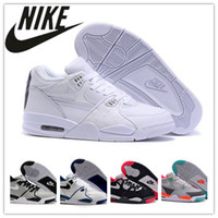 pvc leather - 2016 Nike Air Flight LE QS White Patent Ostrich Basketball Shoes Best Discount Sports Shoes Leather Men s Basketball Shoes Shoes