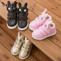 Wholesale Brand New yards cartoon star pattern baby boots plus velvet warm boots PU Velcro soft bottom children snow boots pair