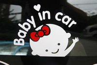 baby car mirrors - D Cartoon Car Stickers Reflective Vinyl Styling Baby In Car Warming Car Sticker Baby on Board On Rear Windshield