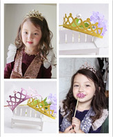 Wholesale Cute princess crown hairbands tiaras hair jewelry for girls party dress up accessory for girls holiday gifts10pcs