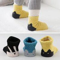 baby sleeping time - 2016 Time limited Character Casual Unisex south Korea New Coral Fleece Anti skid Socks Thick Winter Sleep Baby Infant Floor