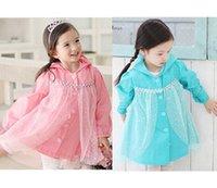 Wholesale Fashion Princess Color Children s Rain Gear Rain Korean raincoat New Arrival Kids Boy Girl Cartoon Raincoat Pink And Blue raincoat