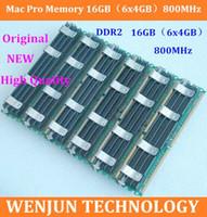 Wholesale 6PCS freeshipping NEW Original for Mac Pro Memory GB x4GB Kit MHz DDR2 PC2 FB DIMM ECC for macpro update order lt no