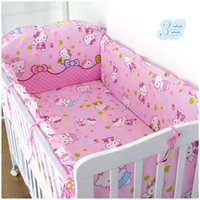 Wholesale Baby Crib Bedding Set Baby Bedding Set Piece Cotton Bedclothes Bed Decoration Include Bedding Bumpers And Fitted Sheet
