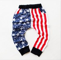 american flag towels - 2016 Cool Boys AB star stripe Flags Pants trousers LOOPED FABRIC size sz American flag Pants kids TOWEL leggings harem pants