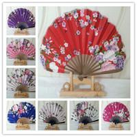 plastic hand fan - Wedding Ladys Silk Dance Fan grace Hand Fan China plastic Fan broadsword Fan