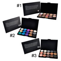 naked eye - 15 Colours water soluble pearly eye shadow foundation pearl naked sootiness makeup tool In stock