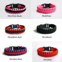 Slap & Snap Bracelets paracord bracelets - 50pcs Outdoor Bracelet Survival Escape Life saving Bracelet Paracord Hand Made With Plastic Buckle Mix Color