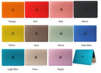 Wholesale Clear Crystal Rubberized Matte Surface Hard PC Cover Case For macbook air pro retaina with retina display mix color