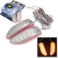 Wholesale by dhl or ems pieces x Soft LED Car Auto Side Door Mirror Light Indicator Turn Signals V Yellow Blue Colors