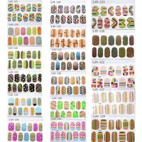 Wholesale 17sheets Mixed NEW D French Flower Fluorescent Nail Art Sticker Decal Nail Stickers Nail Art DIY Decoration