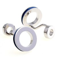 art louvre - Louvre abstract art faint blue purple psychedelic total of four color double ring Cufflinks Cufflinks MTS