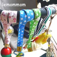 sippy cups - Lemommom stroller toys Bind belt Baby toys Strollers Accessories Sophie pure cotton Toy Saver Sippy Cup Baby Bottle Strap