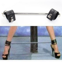 Wholesale PU Leather Stainless Steel Bondage Leg Spreader Bar Ankle Cuffs Locks Padlocks