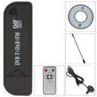 Wholesale USB Digital Vedio Broadcasting DVB T SDR DAB FM HDTV TV Tuner Receiver Stick RTL2832U R820T
