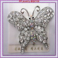 ab china - Stunning Crystal Diamante And AB Crystal Buttfly Pin Brooch Fashion Broach BQ0106