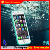 Cheap 100% Sealed Waterproof Water Resistant Full Body Screen Protect Soft TPU Gel Front & Back Case For iPhone 6 6s iphone 6 plus s
