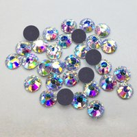 ab cuts sport - High Quality Gross Cuts mm SS20 Bulk Packing Crystal AB Golden Light Strass DMC Hotfix Rhinestones
