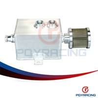aluminum breather tank - PQY STORE L Aluminum oil catch can tank with breather drain tap LT baffled PQY9491