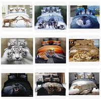 Wholesale 13 colors D Bedding Set animal bedding set Bed Set Full Queen Size Duvet Cover Fitted Sheet Flat Sheet Pillow Shams m000515