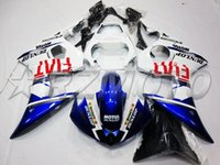 Wholesale 4 Free Gifts New ABS Plastic Motorcycle Fairing Kits Fit For YAMAHA YZF600 R6 YZF R6 Cowling cool blue red FIAT