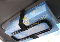 auto sunvisor - New Car sun visor napkin Tissue paper box holder Auto seat back accessories hold clip