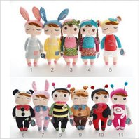 Wholesale Sample order cm Lovely Stuffed Cloth Doll Plush Toy Metoo Rabbit Doll Angela Christmas Girl Birthday Gift