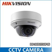 Wholesale HIKVISION DS CD2732F IS New High Quality varifocal lense MP IR dome security network ip cameras w audio alarm support POE