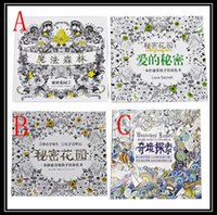 Wholesale 2016 Book Secret Garden Chinese VERSION coloring books An Inky Treasure Hunt Art Graffiti Painting Drawing Books