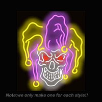 art jester - Jester Skull Neon Sign Beer Bar Pub Recreation Room Garage Art Design Signs Real Glass Tube Neon Bulbs Store Display Gifts x22