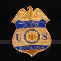 Wholesale The United States tobacco alcohol administration ATF badge agent SpecialAgent copper withbadgesorepaulets