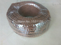 Wholesale hot sale colorful braided electrical wire for vintage lamp