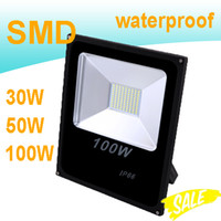 Wholesale LED Floodlights Spotlight W W W Outdoor LED Bulb High Bright SMD Chip IP65 Waterproof Warm White Cool White Luminaire