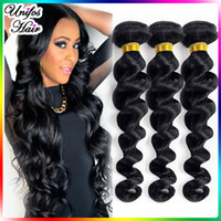 brazilian hair bundle jet black - 6A Brazilian Virgin Hair Loose Wave Bundles Unprocessed Virgin Brazilian Hair Loose Wavy Brazilian Jet Black Loose Wave Virgin Hair Weave