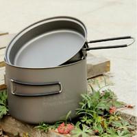 Wholesale TOAKS T Ultralight Outdoor Camping Titanium Pot pan Cooking Pot fry pan Titamium Cookware Sets