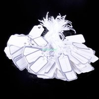 Wholesale ES4231 SILVERY AND WHITE PACK PAPER TAG JEWELLERY PRICE LABELS PRICE TAGS