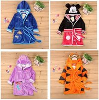 Wholesale Tigger Mickey bathrobe Cartoon Winter Robe Baby Girls Bathrobe Sleepwear Child Warm Pajama Christmas Homewear Dhgate