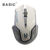 Wholesale BASIC M GT Gray White Multi Function Game Ergonomic Design Optical Mouse DPI With LED Light Comfotable Mice For Laptop P