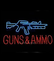 ammo sign - Guns And Ammo Neon Sign Light for Home Bar Shop Real Glass Tube Neon Light Sign Avize Neon Nikke Air Jorddan Neon Sign