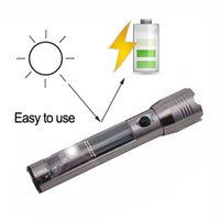 Wholesale Aluminum Alloy Solar Torch Waterproof Shockproof Solar Sun Charger Flashlight Torch With USB Cable Charger For Outdoor Camping Survivall