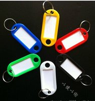 Wholesale Plastic Key Tags Keychain ID Label Name Key Tags Split Ring Different Style