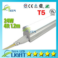 Wholesale CE UL Integrated m ft T5 W Led Tube Light Leds lm Led lighting Replace Fluorescent Tubes Lamp lights Warranty Years X25