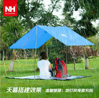 awning cloth - NatureHike three in one multifunctional outdoor climbing raincoat poncho cloth tent awning canopy