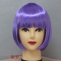 Short Boy Under $10 girls hair accessories 2017 new wigs Cosplay wig Cheap Fashionable Synthetic wigs Long hair Gloden Brown Red Green Women Lady Sexy Party