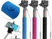 Cheap Wired Selfie Stick Handheld Monopod Built-in Shutter Extendable + Mount Holder For iPhone Samsung Smartphone Any Phones Camera