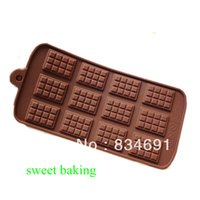 baking tray cookies - Retail And Wholesales Cups Cupcake Molds Cake Baking Pan Mini Chocolate Molds Cookie Trays Silicon Wafer Molds
