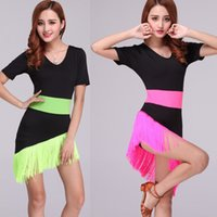 ballroom dances types - New Latin Dance Dress Women Costume Salsa Cha Cha Rumba Ballroom Dance Sexy Skirts LH2