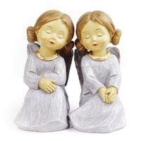 Wholesale small angel decoration mousse fashion decoration resin wedding gifts home decoration